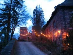 Lichtermeer zur Burgweihnacht