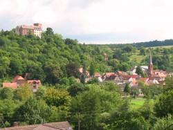 Blick auf die Burg und Altort
