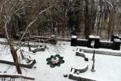 Winterlicher Burgpark