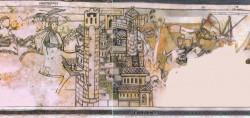 Rekonstruktion eines Ausschnitts der Wandmalereien